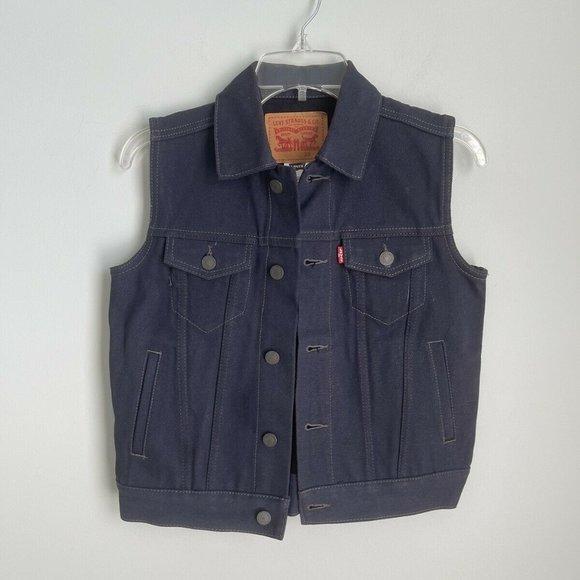 Levi's Kids Dark Wash Denim Vest